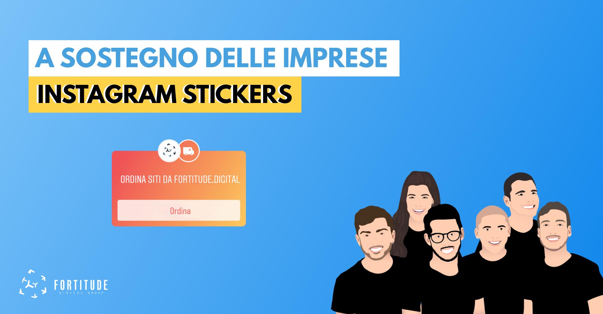 Instagram Sticker a Sostegno delle Imprese